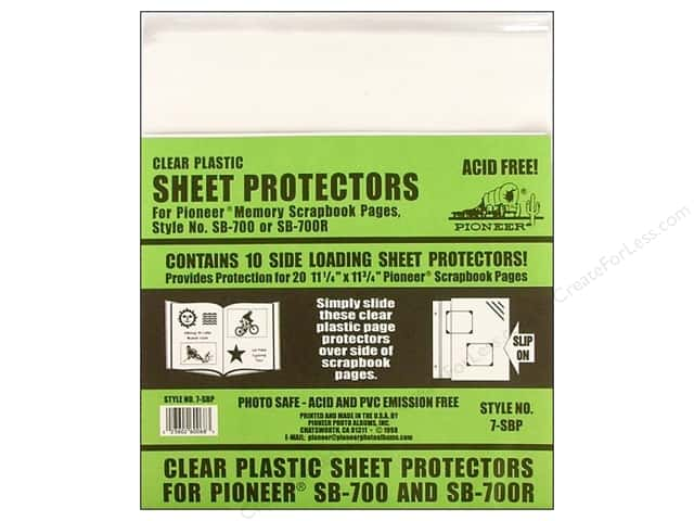 "Pioneer Sheet Protector 11.25""x 11.75"" 10pc"