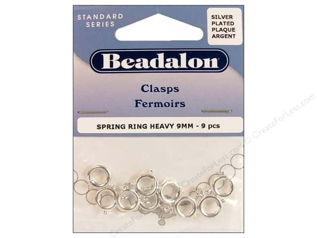 Beadalon Spring Ring Clasps 9 mm Silver 9 pc.