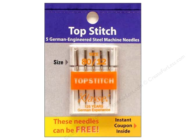Klasse Topstitch Machine Needle Size 80/12 5 pc.