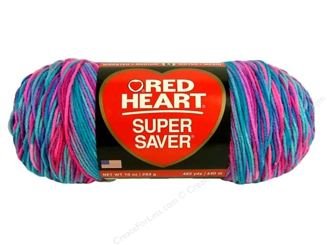 Red Heart Super Saver Jumbo Yarn #0784 Bon Bon 482 yd.