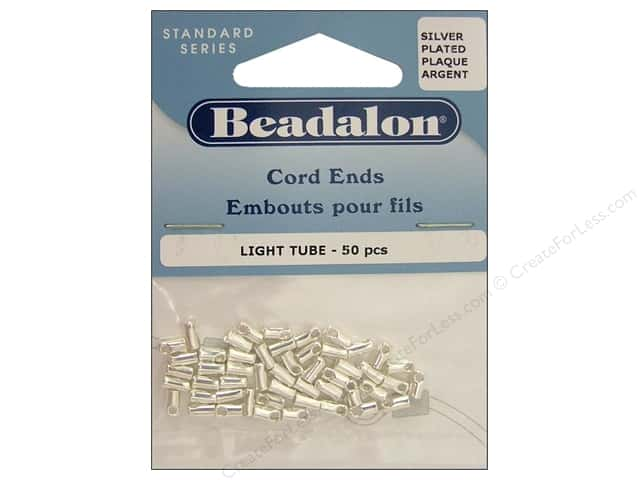 Beadalon Cord Ends Light 1.9 mm Silver Plated 50 pc.
