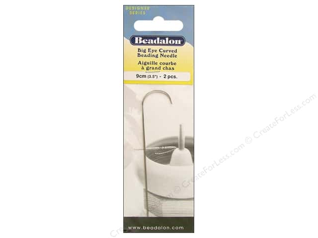Beadalon Big Eye Curved Beading Needles 3 1/2 in. 2 pc.
