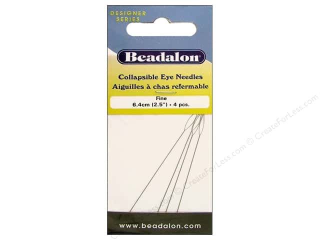 Beadalon Collapsible Eye Beading Needle 2 1/2 in. Fine 4 pc.