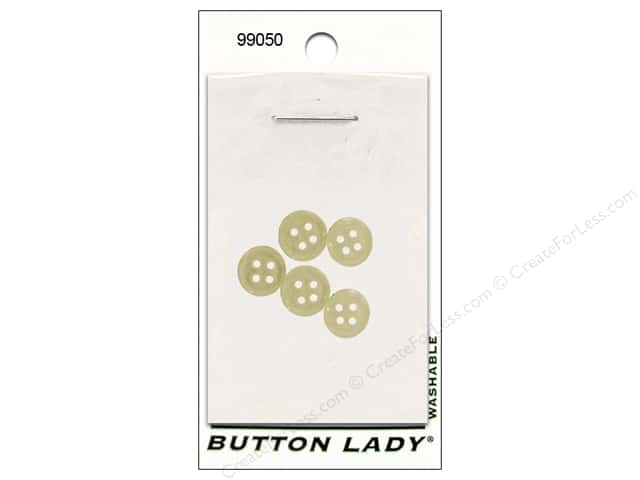 JHB Button Lady Buttons 3/8 in. Clear #99050 5 pc.