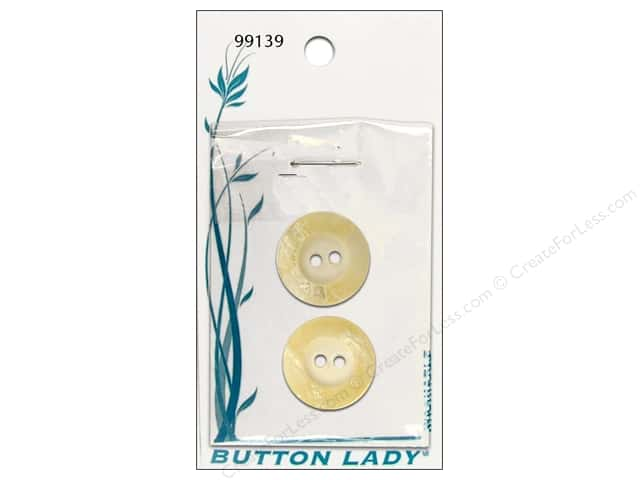 JHB Button Lady Buttons 3/4 in. Marble Cream #99139 2 pc.