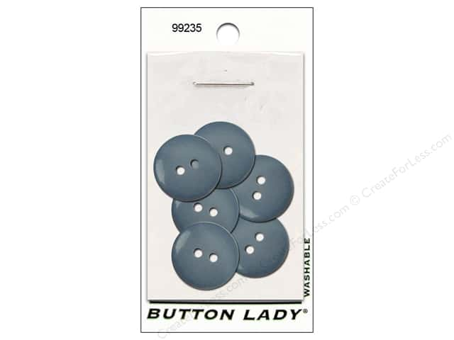 JHB Button Lady Buttons 3/4 in. Faded Denim #99235 6 pc.