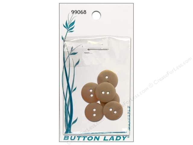 JHB Button Lady Buttons 5/8 in. Beige #99068 6 pc.