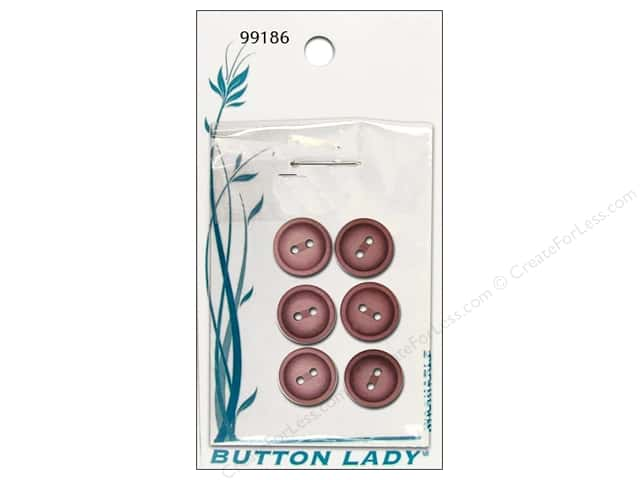 JHB Button Lady Buttons 5/8 in. Mauve #99186 6 pc.