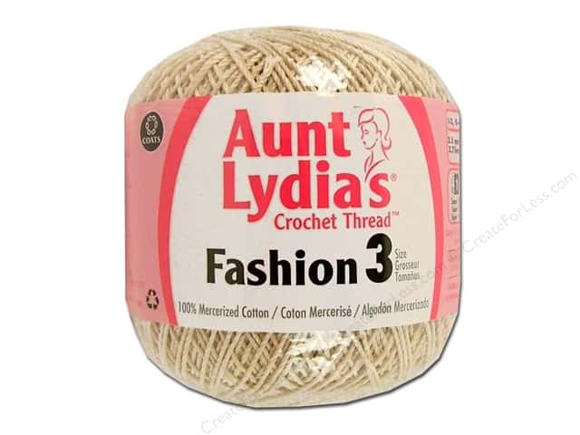 Aunt Lydia's Fashion Crochet Thread Size 3 #226 Natural