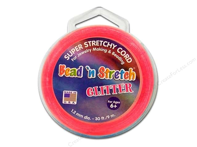 Toner Bead 'N Stretch Cord 1.2 mm x 30 ft. Glitter Pink