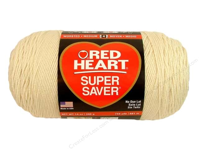 Red Heart Super Saver Jumbo Yarn 744 yd. #313 Aran