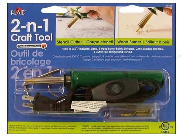 Plaid Tools 2-N-1 Craft Wood Burner/Stencil Cutter