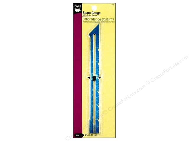 Seam Gauge by Dritz with Point Turner 7 in.