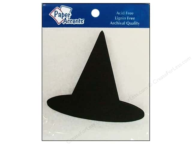 Paper Accents Chipboard Shape Witches Hat 8 pc. Black