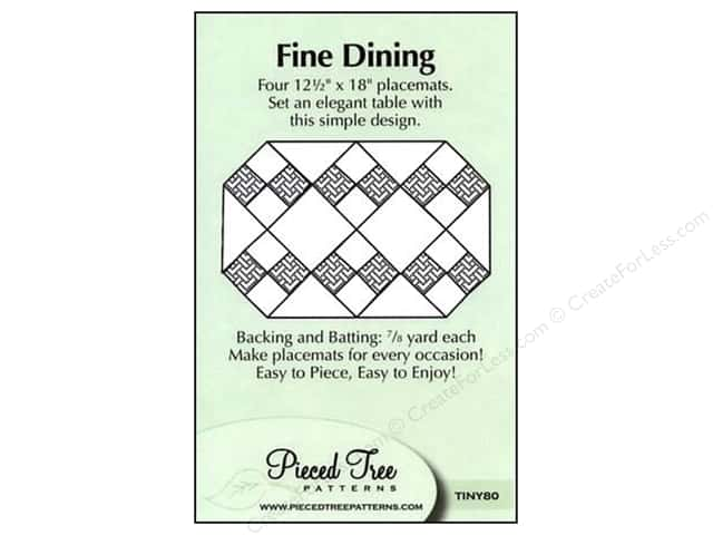 Pieced Tree Tiny Fine Dining Pattern Card