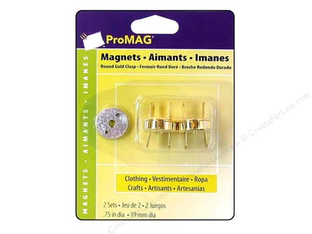 "ProMag Magnetic Clasp Round Gold .75"" 2pc"