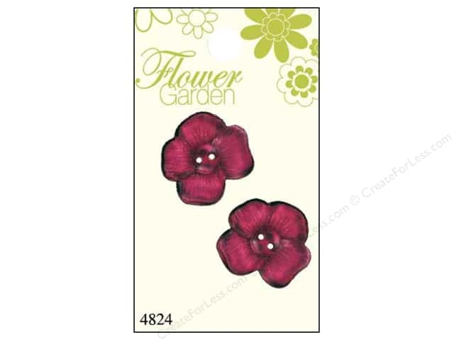 Blumenthal 2 Hole Buttons Pink Pansy 2 pc.