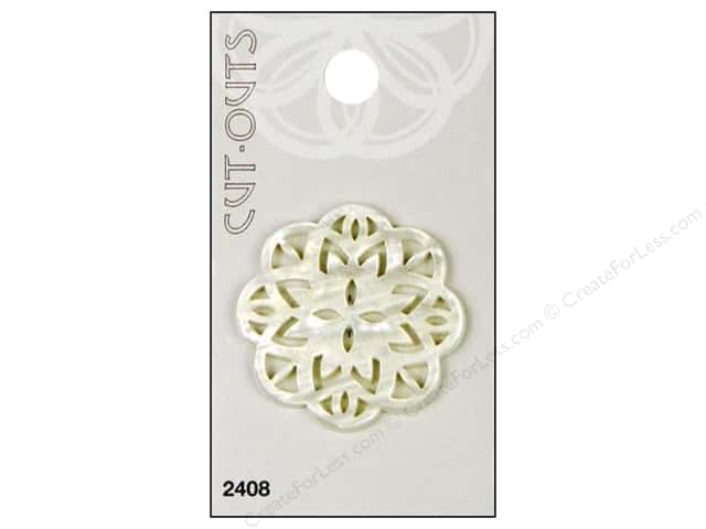 Blumenthal Button Cut Outs 1 1/2 in. Ivory 1 pc.