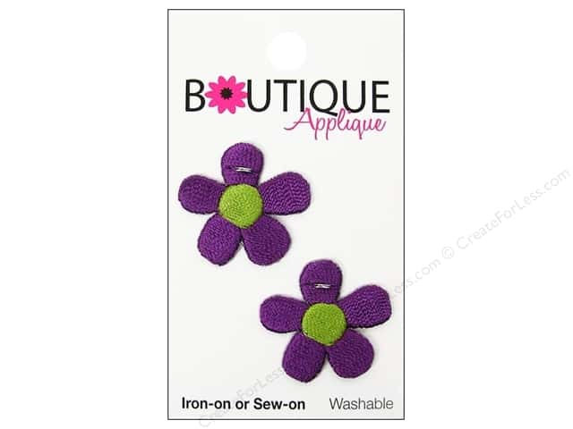 Blumenthal Boutique Applique 1 in. Purple Flowers 2 pc.