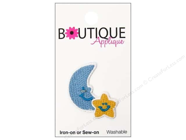 Blumenthal Boutique Applique Blue Moon & Yellow Star