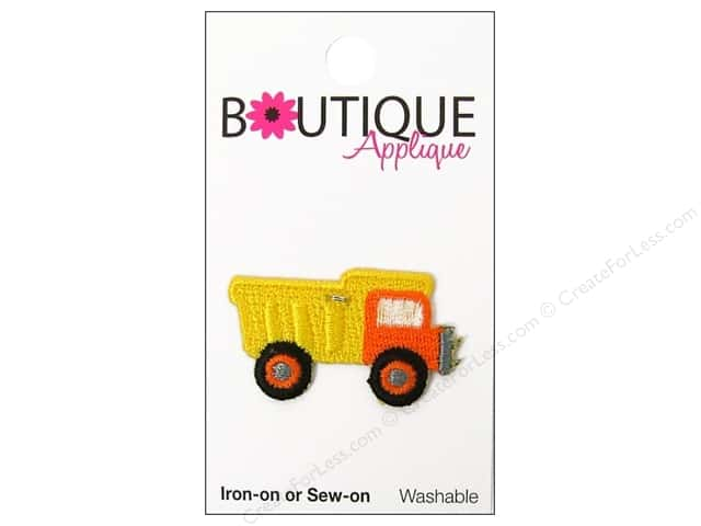 Blumenthal Boutique Applique Yellow Dump Truck
