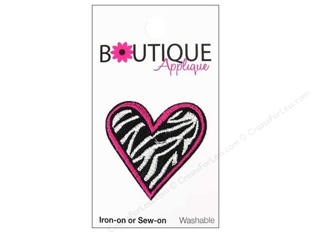 Blumenthal Boutique Applique 1 3/8 in. Zebra Heart