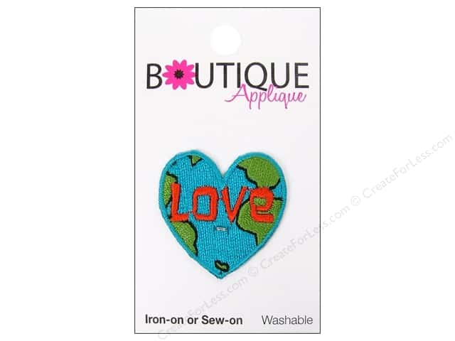 Blumenthal Boutique Applique 1 1/4 in. Love Earth Heart