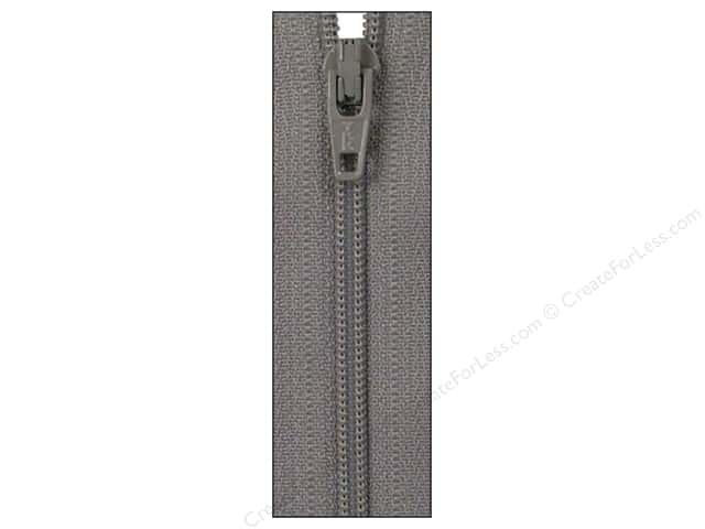 Atkinson Designs Zipper by YKK 14 in. Grey Kitty