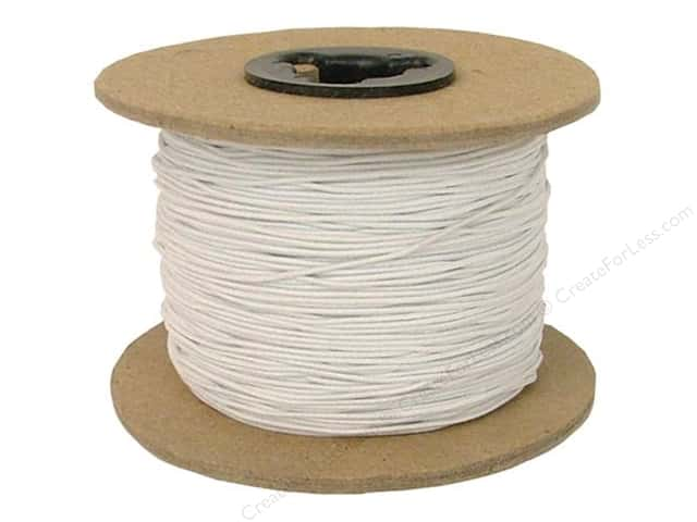 Conrad Jarvis Elastic Bead Cord Reel 1/32 in x 144 yd White (144 yards)