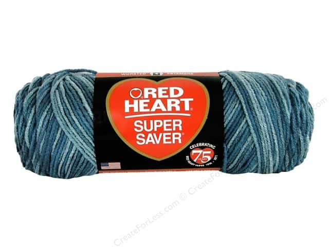 Red Heart Super Saver Yarn #847 Blue Tones 244 yd.
