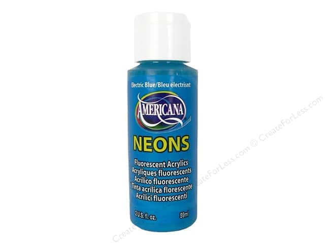 DecoArt Americana Neons Acrylic Paint 2 oz. #DHS6 Electric Blue