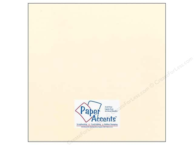 Cardstock 12 x 12 in. #73 Smooth Dusty Buff by Paper Accents (25 sheets)