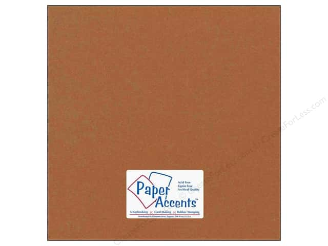 Cardstock 12 x 12 in. #74 Smooth Dusty Brown by Paper Accents (25 sheets)