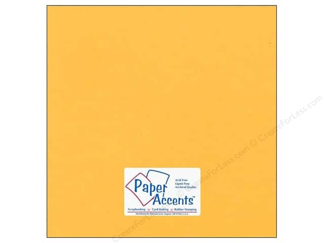 Cardstock 12 x 12 in. #75 Smooth Dusty Gold by Paper Accents (25 sheets)