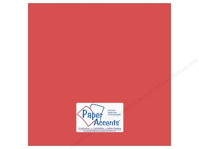 Cardstock 12 x 12 in. #80 Smooth Dusty Red by Paper Accents (25 sheets)