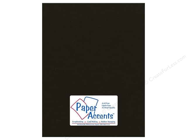 Cardstock 8 1/2 x 11 in. #71 Smooth Dusty Black by Paper Accents (25 sheets)