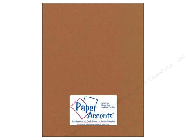 Cardstock 8 1/2 x 11 in. #74 Smooth Dusty Brown by Paper Accents (25 sheets)