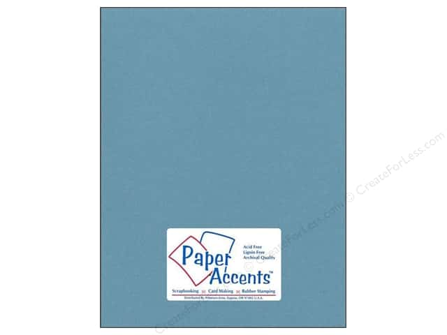 Cardstock 8 1/2 x 11 in. #77 Smooth Dusty Blue by Paper Accents (25 sheets)