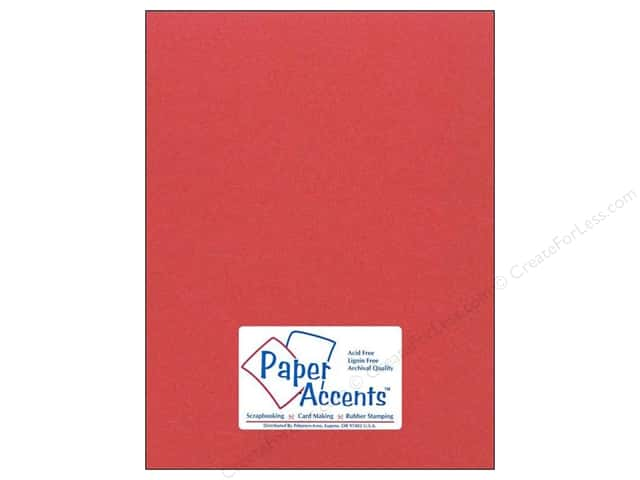 Cardstock 8 1/2 x 11 in. #80 Smooth Dusty Red by Paper Accents (25 sheets)