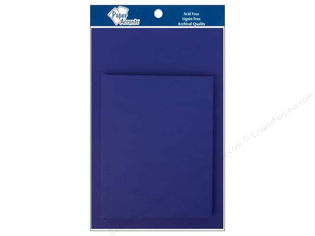 4 1/4 x 5 1/2 in. Blank Card & Envelopes by Paper Accents 10 pc. Royal Blue