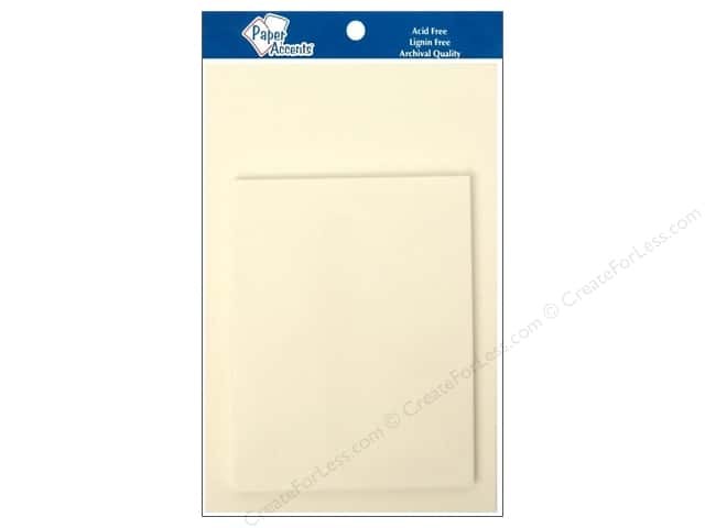 4 1/4 x 5 1/2 in. Blank Card & Envelopes by Paper Accents 10 pc. Parchment White