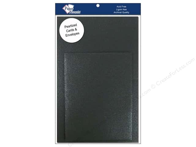 4 1/4 x 5 1/2 in. Blank Card & Envelopes by Paper Accents 6 pc. Pearlized Onyx