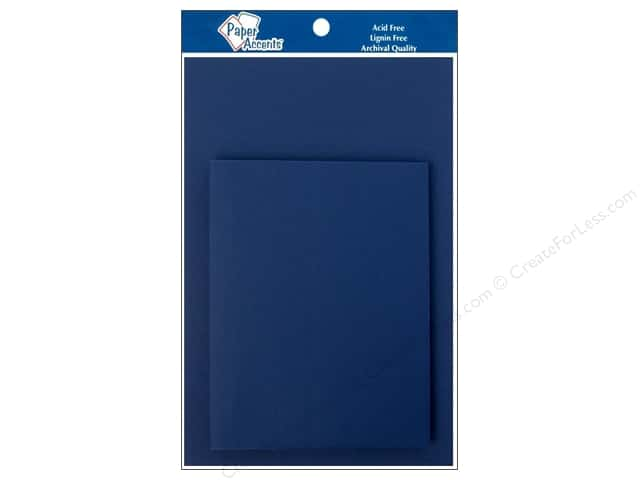 4 1/4 x 5 1/2 in. Blank Card & Envelopes by Paper Accents 8 pc. Adriatic Blue