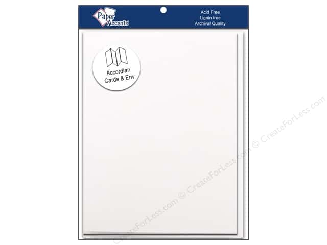 5 x 7 in. Blank Card & Envelopes by Paper Accents 5 pc. Accordion. White
