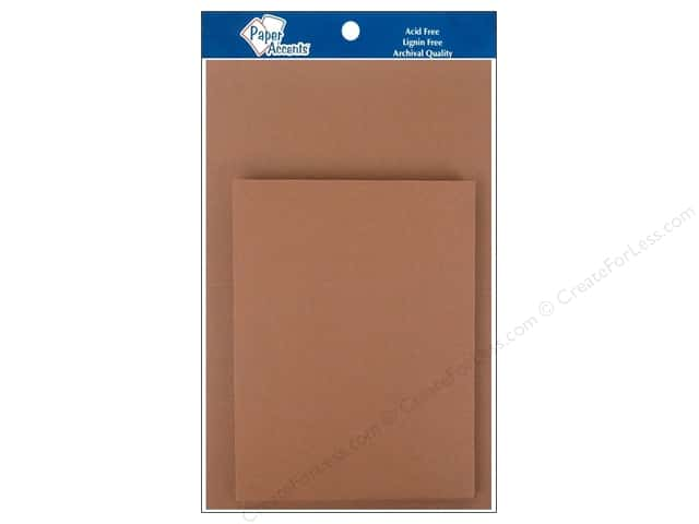 4 1/4 x 5 1/2 in. Blank Card & Envelopes by Paper Accents 10 pc. Espresso