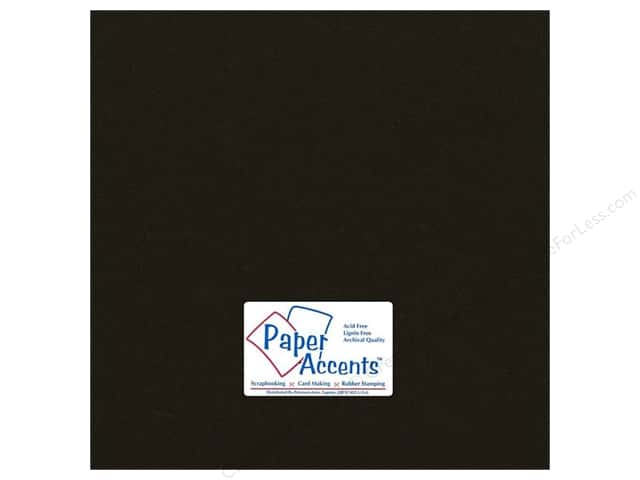 Cardstock 12 x 12 in. #71 Smooth Dusty Black by Paper Accents (25 sheets)
