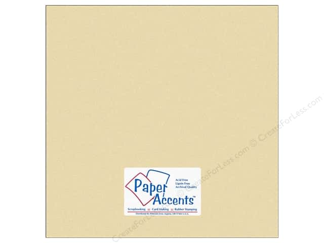 Cardstock by Paper Accents 12 x 12 in. Glossy Metallic Pearl (25 sheets)