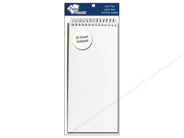 Note Pad by Paper Accents 8 1/2 x 3 2/3 in. White