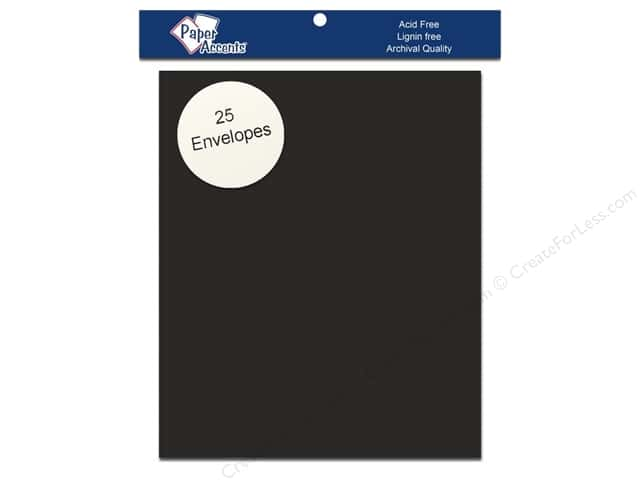 4 1/4 x 5 1/2 in. Envelopes by Paper Accents 25 pc. #71 Dusty Black