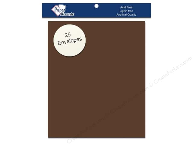 4 1/4 x 5 1/2 in. Envelopes by Paper Accents 25 pc. #74 Dusty Brown